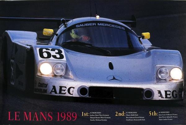 Sauber Mercedes triumphiert 1989 in Le Mans