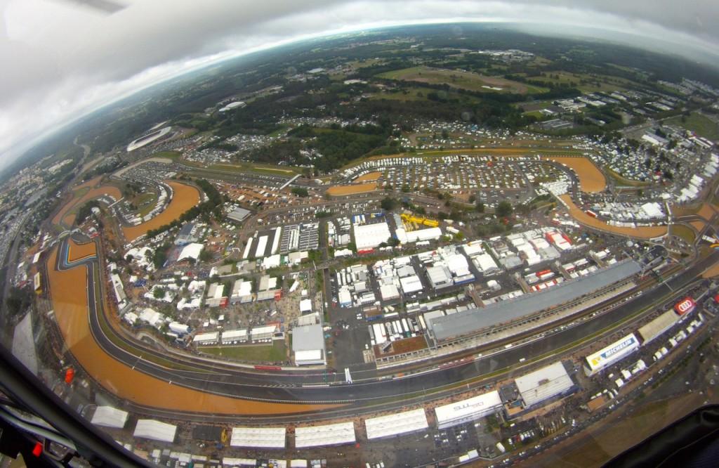 Das Herz von Le Mans von oben betrachtet